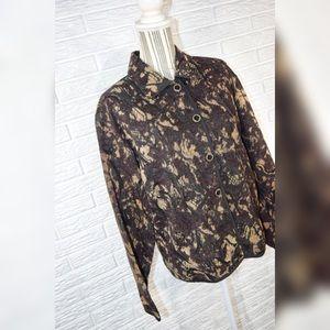Vintage Jackets & Coats - Vintage Keren Hart Brown & Black Patterned Jacket